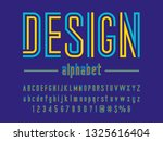 colorful line condensed... | Shutterstock .eps vector #1325616404