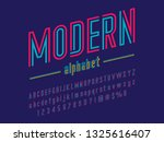 colorful line condensed... | Shutterstock .eps vector #1325616407