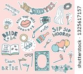 set of doodle stickers for... | Shutterstock .eps vector #1325617157
