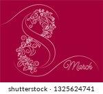 march 8 women's day   Shutterstock .eps vector #1325624741
