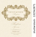 wedding invitation cards... | Shutterstock .eps vector #132562871