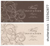 wedding invitation cards... | Shutterstock .eps vector #132562877