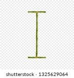 vector bamboo alphabet. capital ... | Shutterstock .eps vector #1325629064