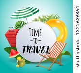 time to travel. inspirational... | Shutterstock .eps vector #1325639864