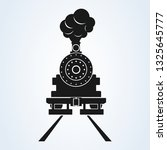 old train front icon vector on... | Shutterstock .eps vector #1325645777