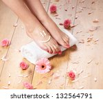 spa compositions of sexy female ... | Shutterstock . vector #132564791