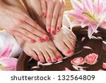 spa background with a beautiful ...   Shutterstock . vector #132564809