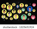 flat faces characters icons set | Shutterstock .eps vector #1325651924