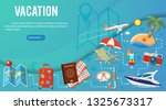 vacation and tourism banner... | Shutterstock .eps vector #1325673317
