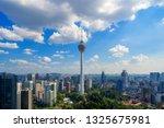 menara kuala lumpur tower with... | Shutterstock . vector #1325675981