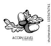 black and white leaves of... | Shutterstock .eps vector #1325676761