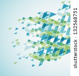 geometric abstract background.... | Shutterstock .eps vector #132568751