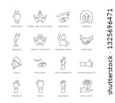 set of 16 thin linear icons... | Shutterstock .eps vector #1325696471