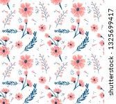 floral seamless pattern with... | Shutterstock .eps vector #1325699417