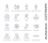 set of 16 thin linear icons... | Shutterstock .eps vector #1325700494