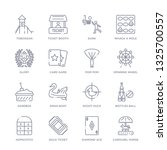 set of 16 thin linear icons... | Shutterstock .eps vector #1325700557