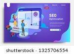 social media marketing landing... | Shutterstock .eps vector #1325706554