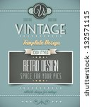 vintage retro page template for ... | Shutterstock .eps vector #132571115