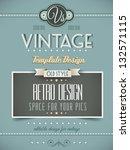 Vintage Retro Page Template Fo...