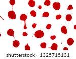 red circle brush stroke... | Shutterstock . vector #1325715131