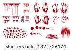 blood splatter  bleed stains... | Shutterstock .eps vector #1325726174