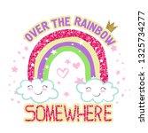typography slogan with glitter. ... | Shutterstock .eps vector #1325734277