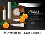 cosmetics website template ... | Shutterstock .eps vector #1325735864