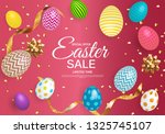 abstract easter sale template... | Shutterstock .eps vector #1325745107