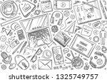 hand drawn set doodle vector... | Shutterstock .eps vector #1325749757