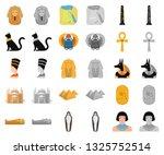 ancient egypt cartoon monochrom ... | Shutterstock .eps vector #1325752514