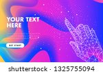 touch the future hand analytics.... | Shutterstock .eps vector #1325755094