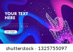 touch the future hand analytics.... | Shutterstock .eps vector #1325755097