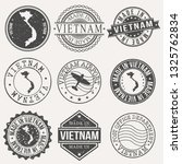 vietnam set of stamps. travel... | Shutterstock .eps vector #1325762834