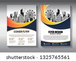 brochure design  cover modern... | Shutterstock .eps vector #1325765561