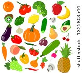 set colorful icons vegetables... | Shutterstock .eps vector #1325803544
