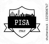 pisa skyline   black and white... | Shutterstock .eps vector #1325808767