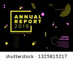 vector abstract annual report... | Shutterstock .eps vector #1325815217