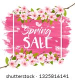 spring sale background with... | Shutterstock .eps vector #1325816141