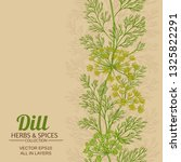 dill vector background | Shutterstock .eps vector #1325822291