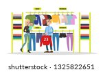 sport store city building with... | Shutterstock . vector #1325822651