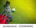 golf clubs at a golf resort. | Shutterstock . vector #1325840681