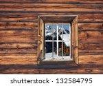 Ski Hut In The Window