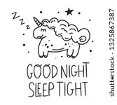 sleeping unicorn. hand drawn... | Shutterstock .eps vector #1325867387
