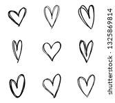 heart doodles set | Shutterstock .eps vector #1325869814