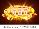 golden slot machine with flying ... | Shutterstock .eps vector #1325873414