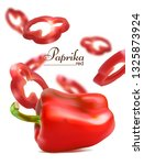 red sweet pepper with chopped... | Shutterstock .eps vector #1325873924