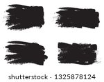 brush stroke set isolated on... | Shutterstock .eps vector #1325878124
