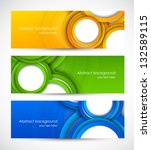 set of banners with circles | Shutterstock .eps vector #132589115