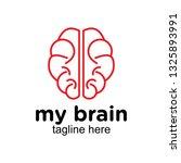 mono line or monogram brain... | Shutterstock .eps vector #1325893991