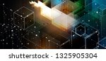 abstract tech background.... | Shutterstock .eps vector #1325905304
